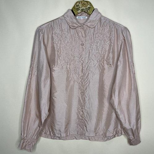Vintage Bluse Seide Puderrosa 80's 90's (S)