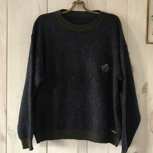 Vintage Woll Pullover Paisley 80's 90's (S-M)