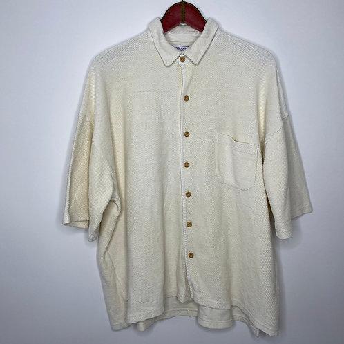 Vintage oversize Hemd Creme Weiss Unisex 80's 90's (XXL)