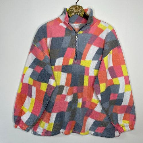 Vintage Fleece Pullover Retro 80's 90's (XL)