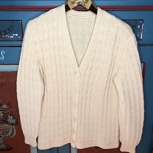 Vintage Strick Jacke Creme 80's 90's (S)