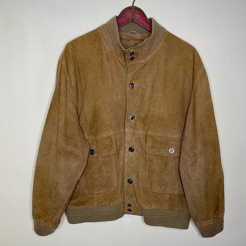 Vintage Suede Leatherjacket Wildleder Jacke Unisex 80's 90's (L-XL)