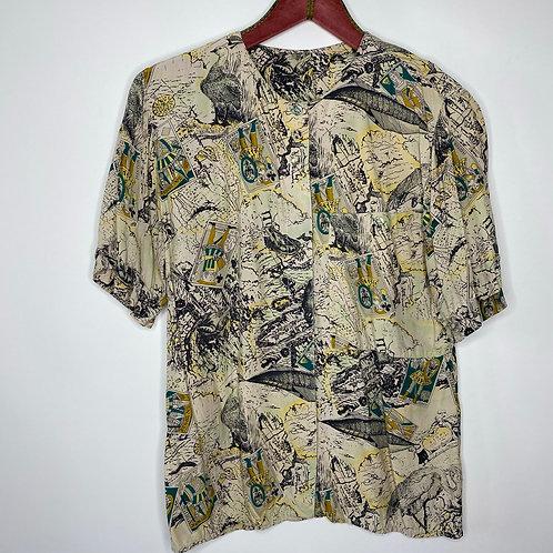 Vintage Crazy Pattern Bluse Betty Barclay 80's 90's (M)