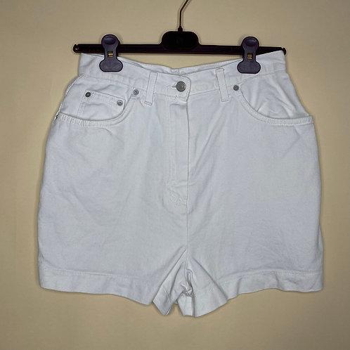 Vintage Highwaist Jeans Shorts Weiss 80's 90's (S)