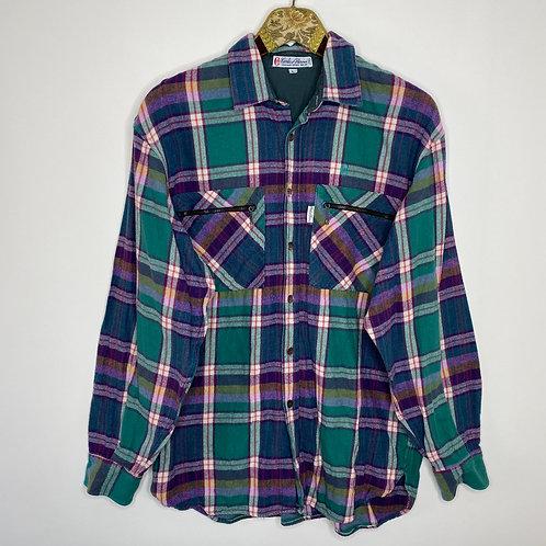 Vintage Baumwollhemd Kariert Unisex 80's 90's (M-L)