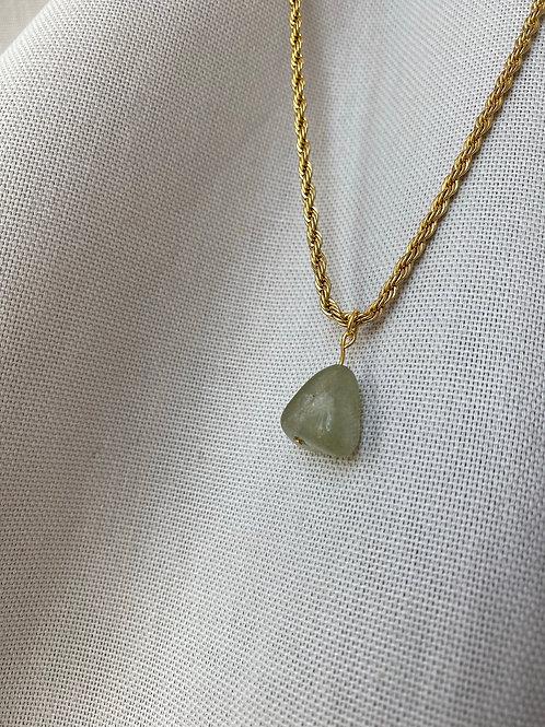 Twisted Kette mit Vintage Jade Stein
