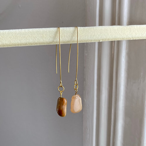 Handmade Ohrringe Stein Peach