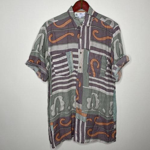 *Appreciate Me* Vintage Hemd Seide Unisex 80's 90's (M-L)