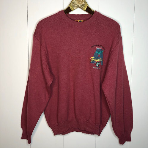 Vintage Woll Pullover Beere Unisex 80's 90's (S-M)