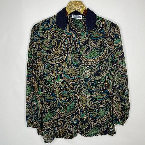 Vintage Bluse Paisley Print 80's 90's (L)