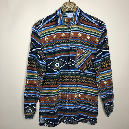 Vintage Aztec Baumwoll Hemd Unisex 80's 90's (S-M)