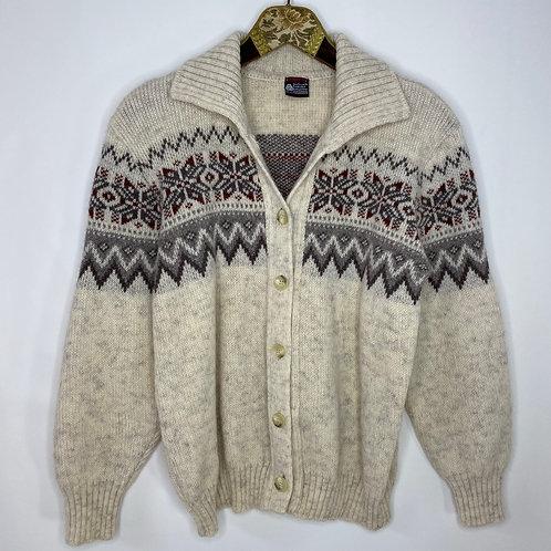 Vintage Cardigan Strickjacke Winter 80's 90's (M)