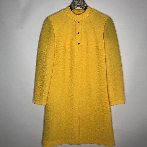 Vintage Kleid Midi Gelb 70's (S)