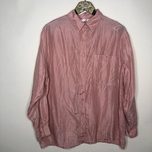 Vintage Bluse Seide Altrosa 80's 90's (L)