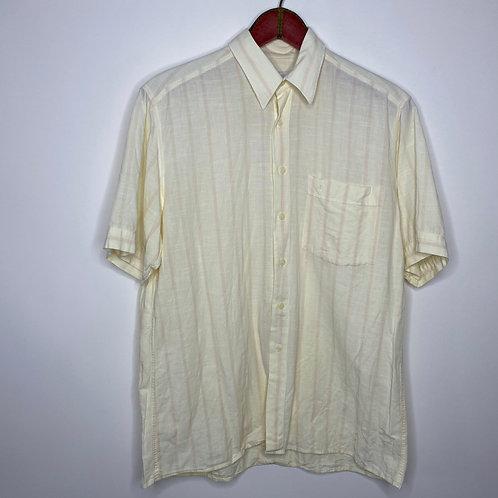 Vintage Hemd Olymp Pastellgelb Unisex 80's 90's (M-L)