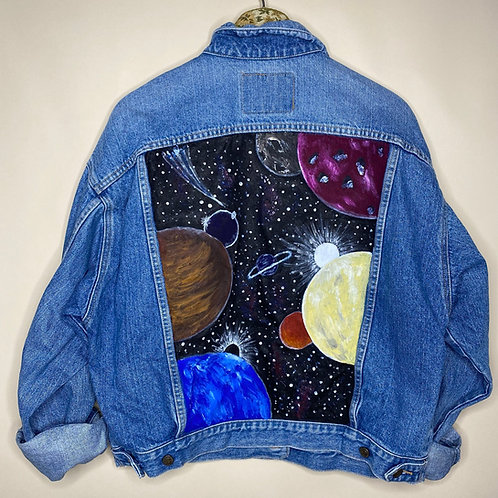 *Upcycling Edition* Vintage oversized Jeans Jacke Easy Unisex 80's 90's (M-L)