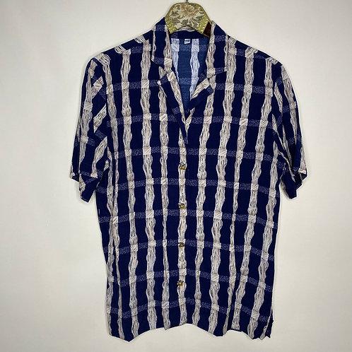Vintage Bluse Kurzarm 80's 90's (S)