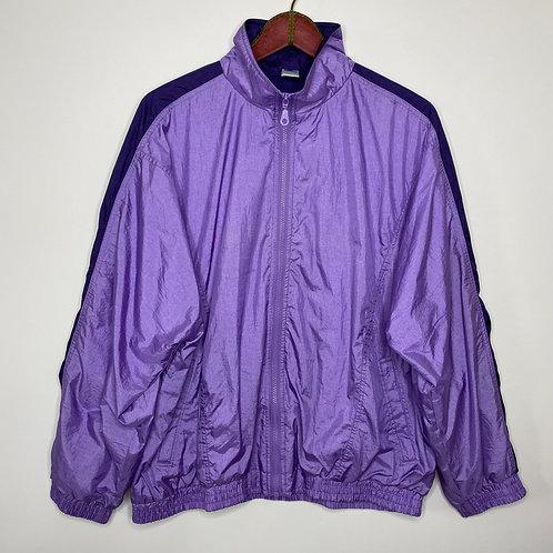 Vintage Shell Jacket Lila Unisex 80's 90's (XL-XXL)