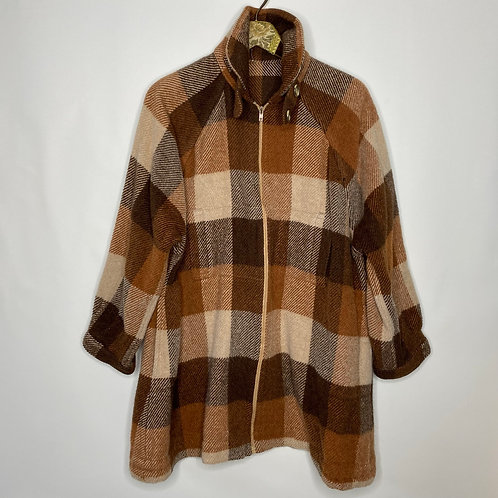 Vintage Mantel Wolle 80's 90's (L)