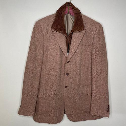 Vintage Woll Blazer mit Cordeinsatz Unisex 80's 90's (M-L)