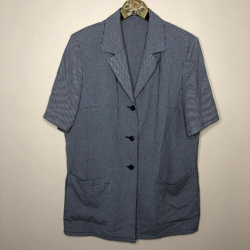 Vintage Long Blazer Kurzarm Karo 80's 90's (XL)
