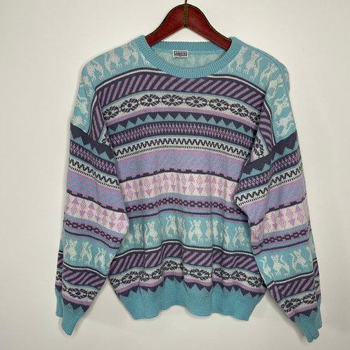 Vintage Strick Pullover Pastell 80's 90's (M-L)