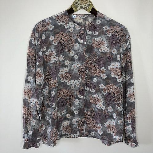Vintage Bluse Seide Blumen 80's 90's (M-L)