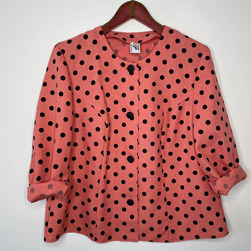 Vintage oversize Blazer Pink Punkte 80's (L)