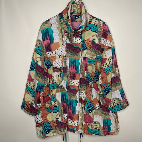 Vintage Mantel Crazy Pattern 80's 90's (L-XL)