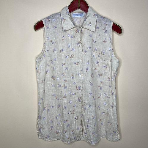 Vintage Bluse Top Blumen 80's 90's (M)