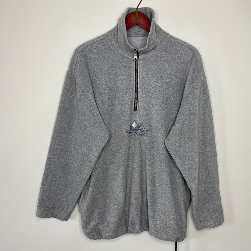 Vintage Fleece Pullover Hellgrau 80's 90's (XL-XXL)