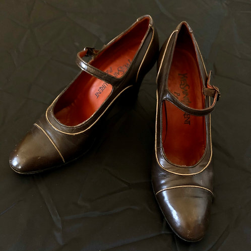 Vintage Pumps Ives Saint Laurent 60's (37)
