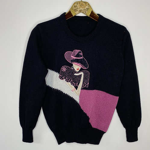 Vintage Strickpullover Sex and the City 80's 90's (S)