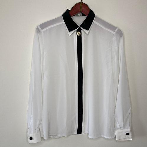 Vintage Bluse Klassik 80's 90's (L)
