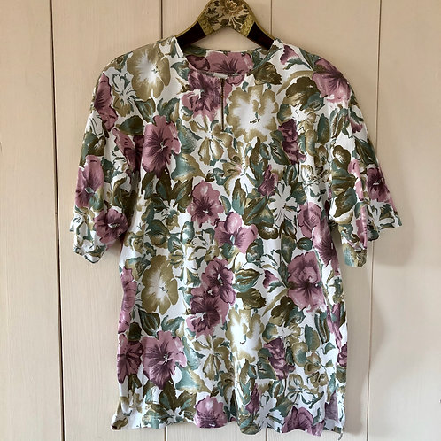 Vintage Blumen Shirt 80's 90's (L)