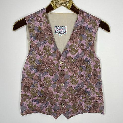 Vintage Weste Blumen 80's 90's (M)