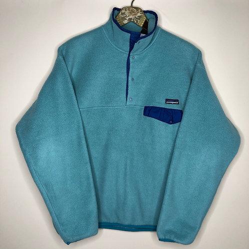 Vintage Fleece Sweater Patagonia Blau Unisex 80's 90's (S-M)