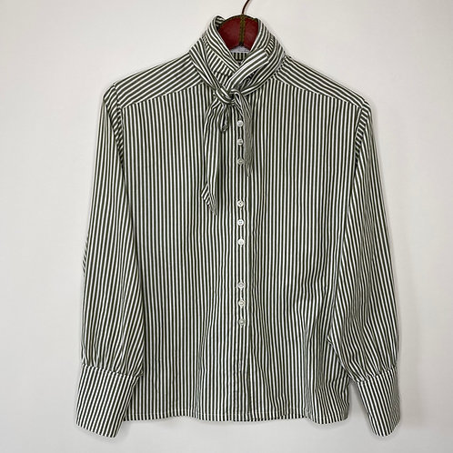 Vintage Bluse Streifen 80's 90's (S-M)
