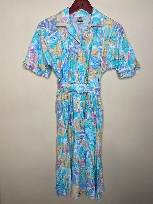 Vintage Kleid Pastell 80's 90's (S-M)
