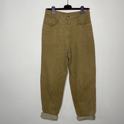 Vintage Highwaist Mom Jeans Khaki 80's 90's (M)
