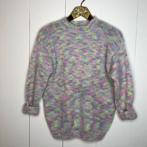 Vintage Woll Pullover Bunt 80's 90's (S)