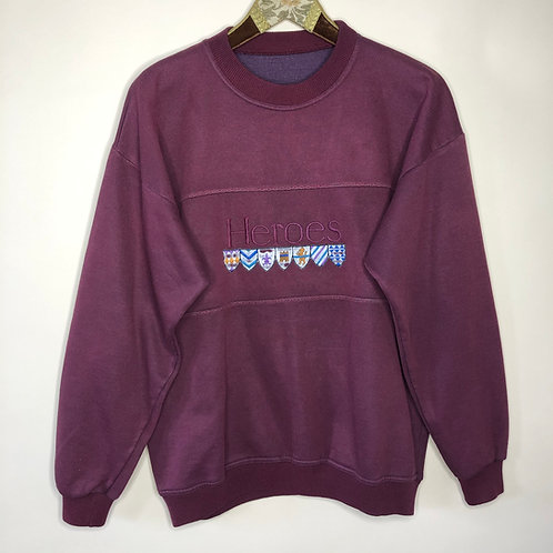 Vintage Pullover Heroes Weinrot Unisex 80's 90's (M-L)