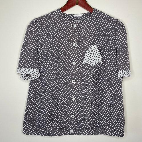 Vintage Bluse Punkte 80's 90's (L)