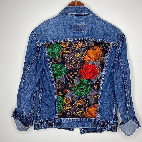 *Upcycling Edition* Vintage Jeans Jacke Levi's Denim Blau 80's 90's (S)