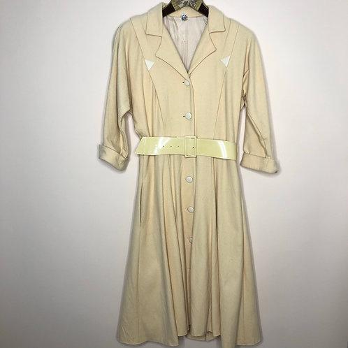 Vintage Kleid Midi Gelb 80's 90's (S)