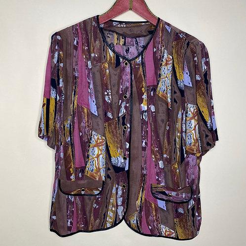 Vintage Bluse Print 80's 90's (L)