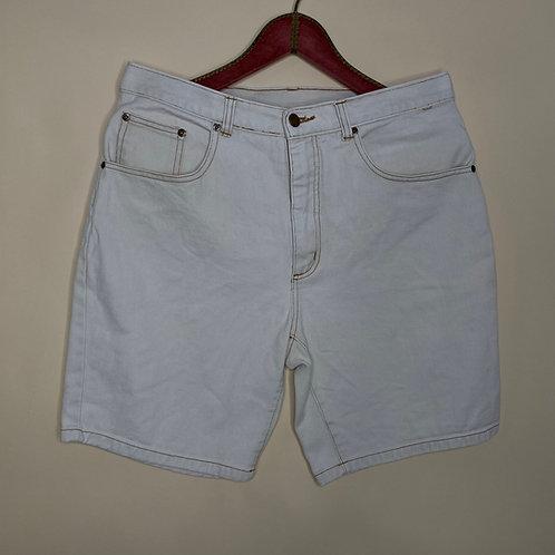 Vintage Highwaist Shorts Creme Weiß 80's 90's (L)