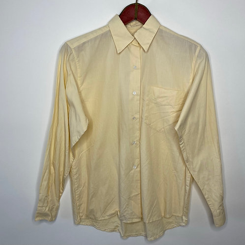 Vintage Bluse Pastell Gelb 80's 90's (S-M)