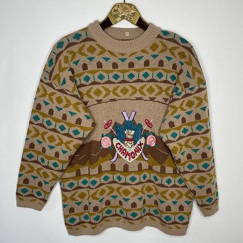 Vintage Strickpullover Winter 80's 90's (L)