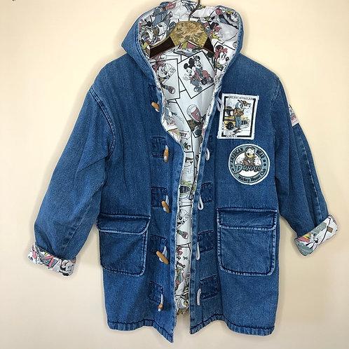 *RARE* Vintage Jeans Jacke Disney Mickey Mouse Denim Blau 80's 90's (M-L)